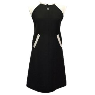 Couregges Paris black and white dress