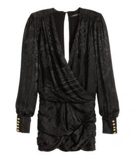 H&M X BALMAIN Black Jaquard Dress