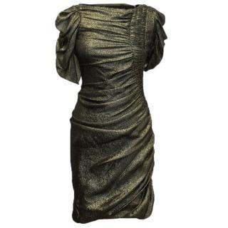 J Mendel Gold silk dress