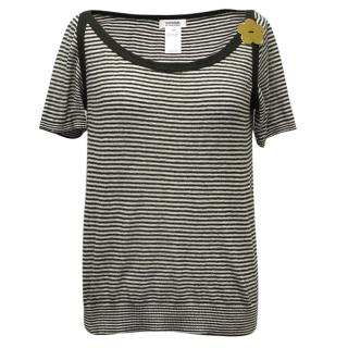 Black and White Striped T
