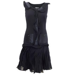 Oscar de la Renta Buttoned Dress with Pockets