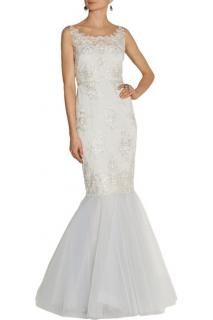 Marchesa Notte lace and tulle gown