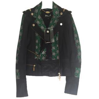 Just Cavalli Snakeskin Leather Jacket