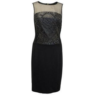 Bastyan black dress with embellishments