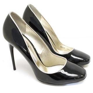 Dolce and Gabbana black patent leather heels