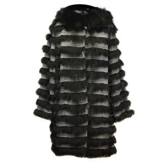 Egake BLack & Grey Fur Jacket