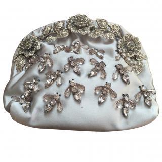 Valentino Glam Lock silk pochette