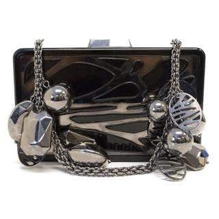 Elie Saab Black and Silver Clutch