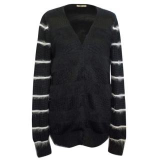 Balenciaga striped sleeve cardigan