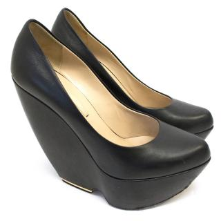 Nicholas Kirkwood Black Wedge Shoes