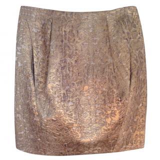 Matthew Williamson Gold brocade skirt