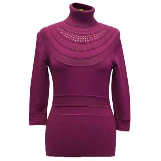 Catherine Malandrino Pink Turtle Neck Jumper