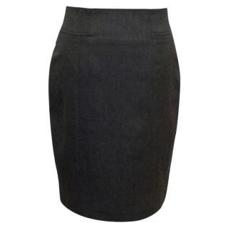 Adam Lippes Grey Pencil Skirt