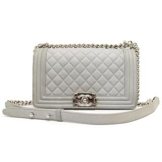 Chanel Boy Bag With Silver Hardware