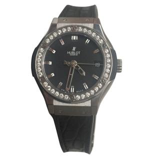 Hublot Classic Fusion Ladies Steel And Diamond Watch