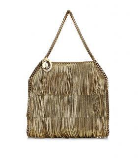 Stella McCartney Gold Fringe Falabella Tote Chain Strap Bag