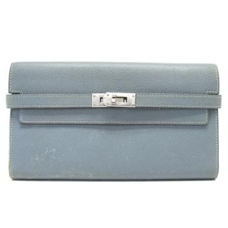 Hermes Duck Egg Blue Kelly Wallet