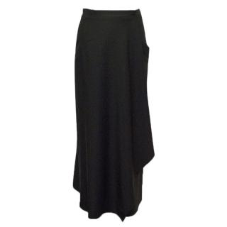 Narciso Rodriguez Black Wool Skirt