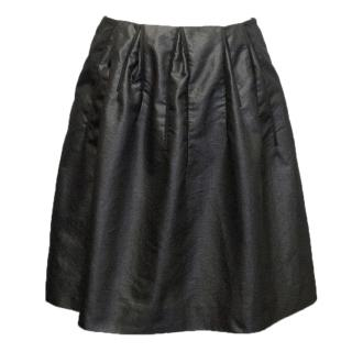 Marni Metallic Charcoal Skirt