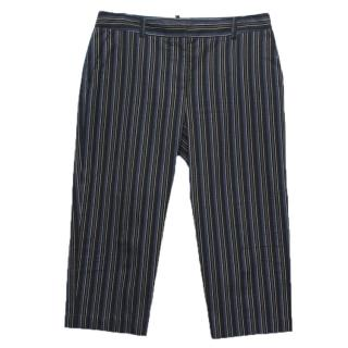 Alexander McQueen Blue Stripped Trousers