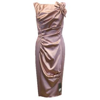 Nina Ricci Pink Satin Look Dress