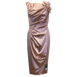 Nina Ricci Pink Satin Look Dress