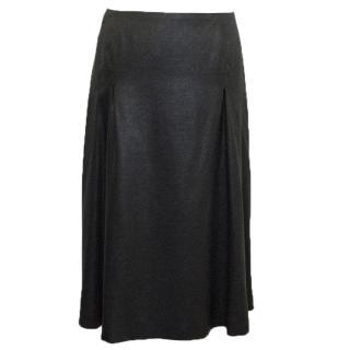 Jil Sander dark silver skirt