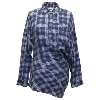MM6 Blue Plaid Shirt