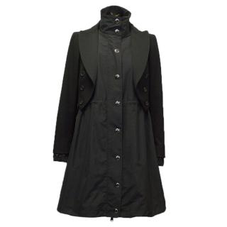 Moschino black long parka jacket