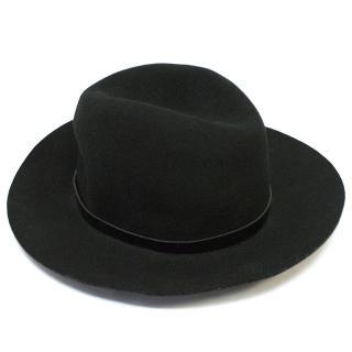 Rag and Bone black fedora hat