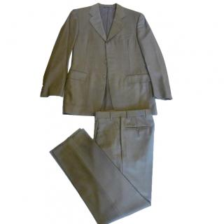Canali New Beautiful Rich Golden Brown 160s Pure Wool Mens Suite