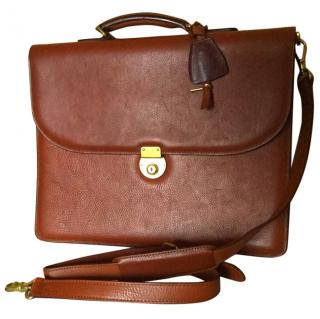 Brooks Brothers Buffalo leather briefcase