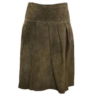 Marni suede skirt