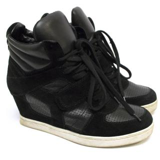ASH Black Heeled Trainers