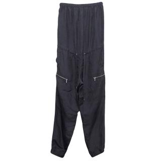 Michael Kors Navy Blue Strapless Jumpsuit