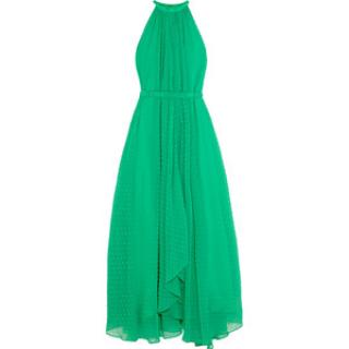 Saloni x Net A Porter Green Maxi Dress