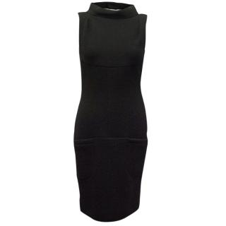 Chanel black wool dress with 'V' back