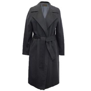 Loro Piana navy cashmere wrap coat