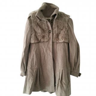 Ronit Zilkha quality wool faux fur coat