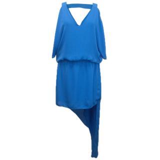 Mason By Michelle Mason Cobalt Blue Silk Dress