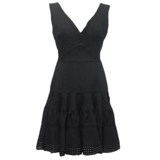 Emilo de la morena black ruffled dress