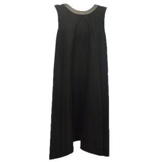 Rue Du Mail Black Dress with Sheer Straps