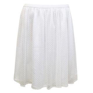 Claudie Pierlot White Lace Skater Skirt