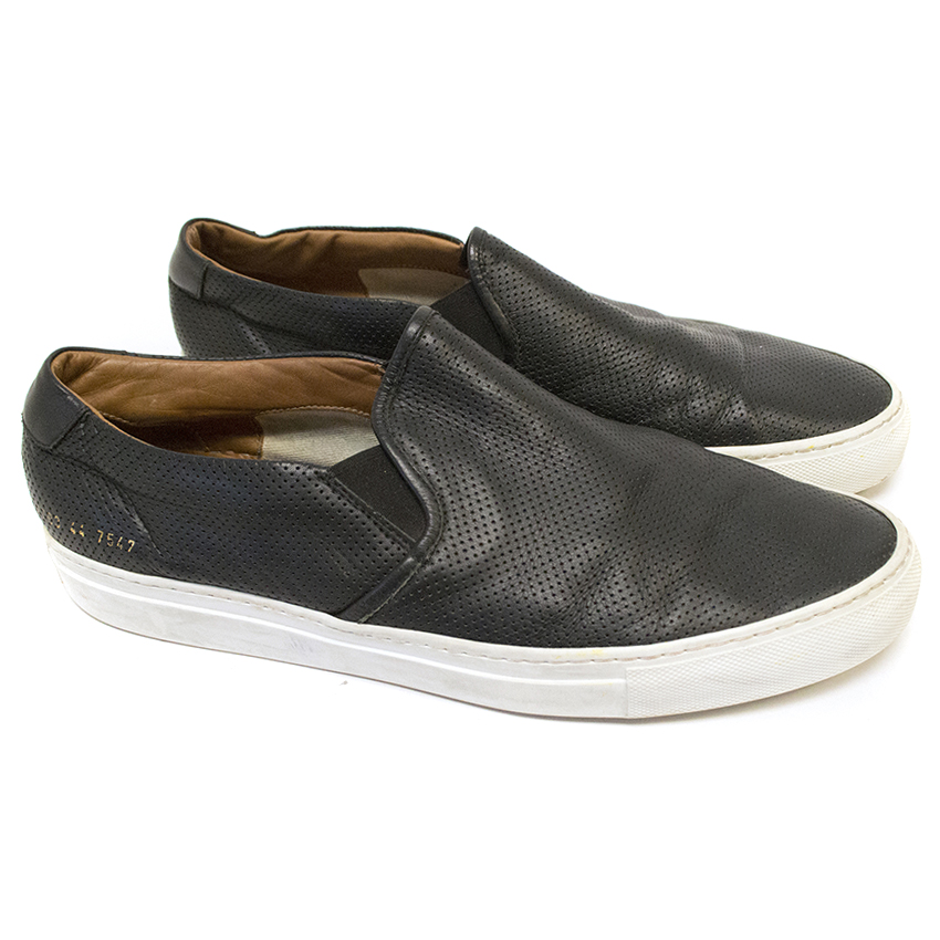 Common Projects Perforated Leather Slip On's