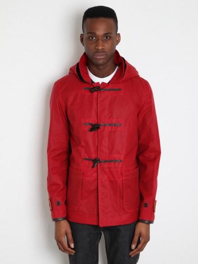YMC x Gloverall, mens waxed short duffel rain jacket , BNWT