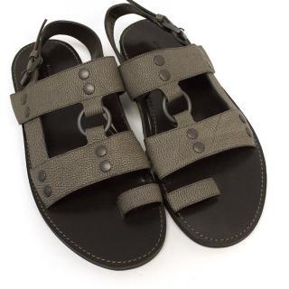 Bottega Veneta Silver Strapped Sandals
