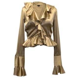 Joseph Gold Silk Blend Blouse