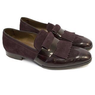 Jimmy Choo burgundy shoes