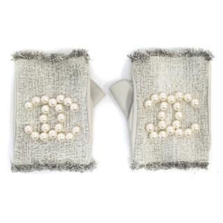 Chanel Faux-Pearls Gloves