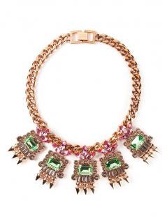 MAWI Geometric Crystal Necklace